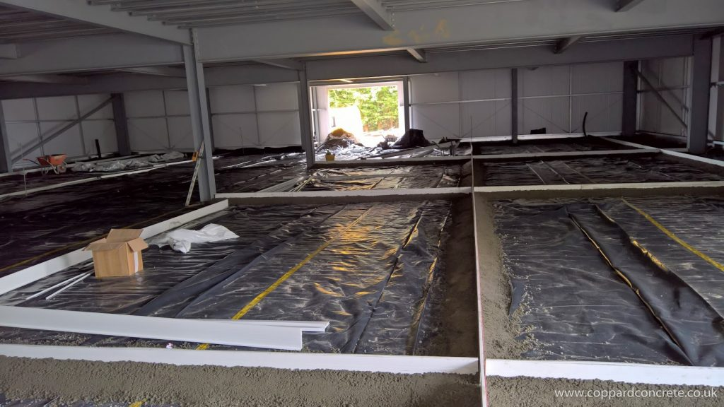 Concrete Slab With Fibres Powerfloat Finish Coppard