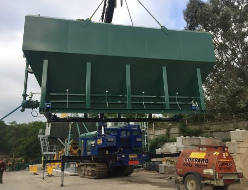 New Mc Cory Silo being installed at Coppards