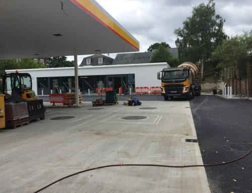 Concrete supplied for new prestigious Shell Petrol station in Tunbridge Wells
